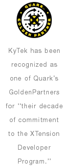 KyTek has been recognized as one of Quark's GoldenPartners